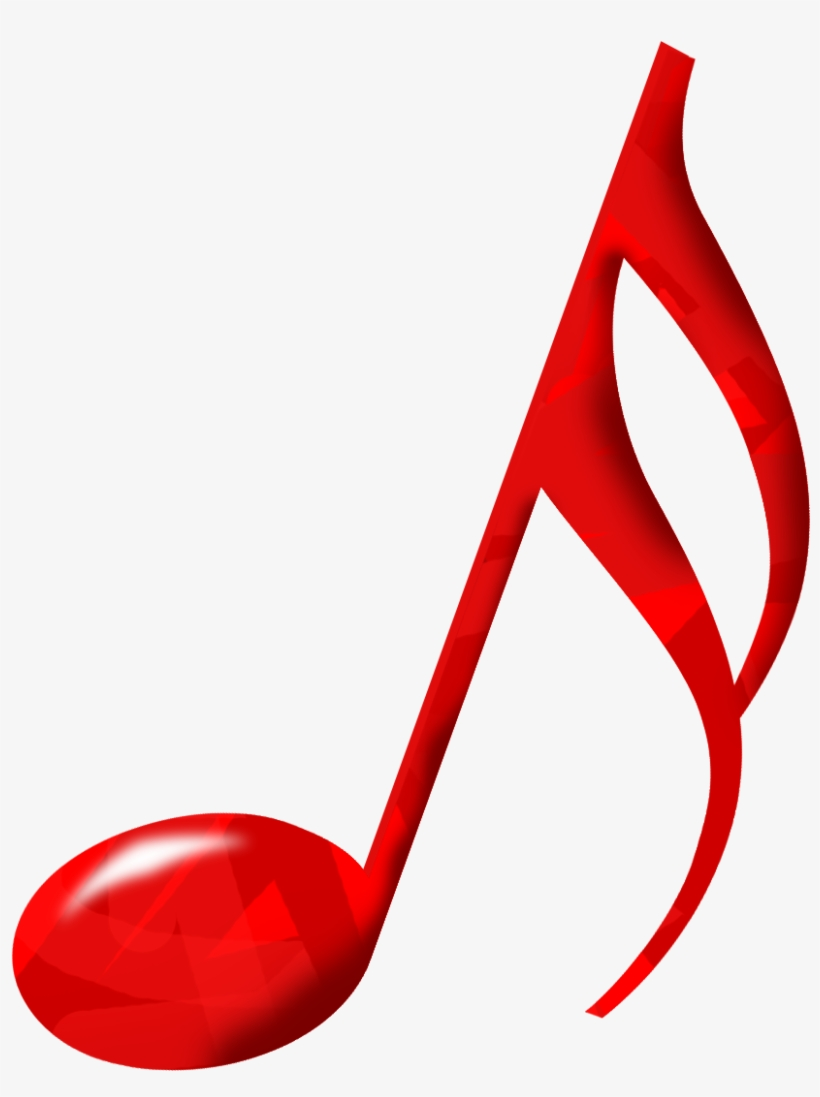Musical Music Download Clip Art Transprent Png - Red Music Note Png, transparent png #506666