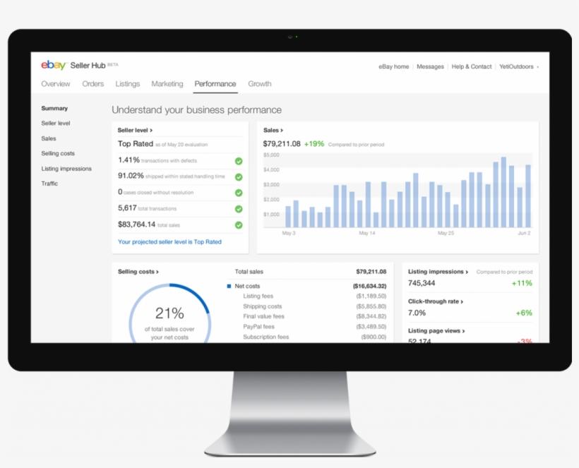 Ebay Seller Hub Free Transparent Png Download Pngkey