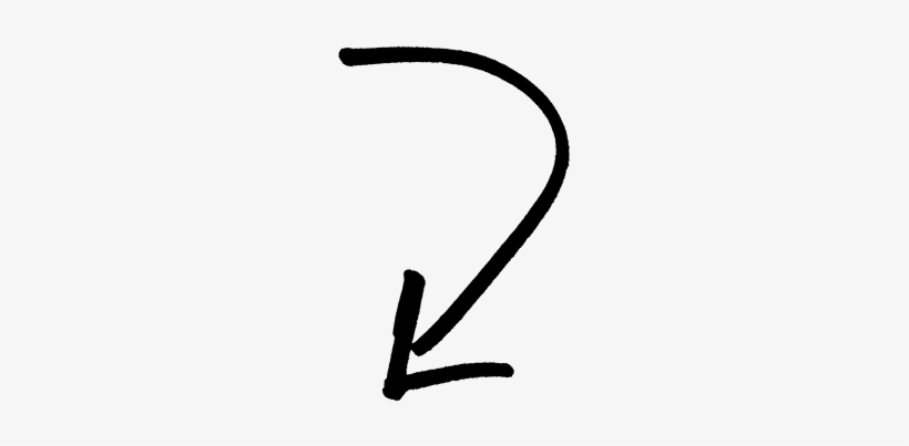 Arrow Pointing Left Png - Curved Arrow Pointing Down, transparent png #508213