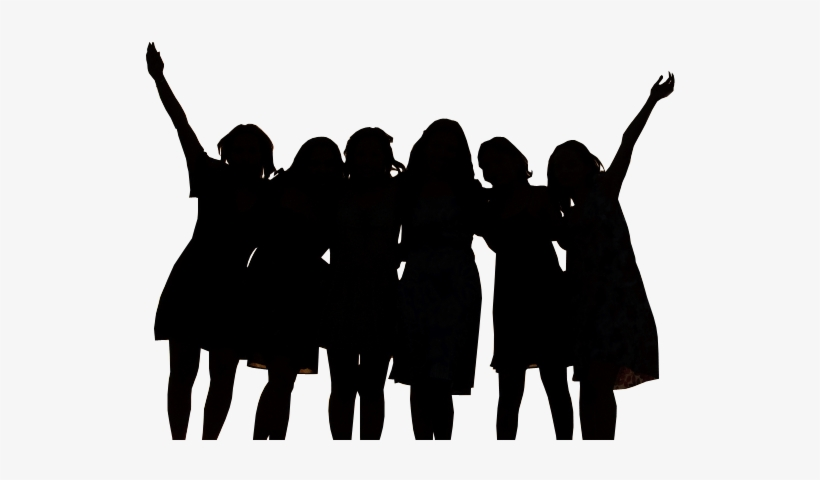 Clip Art Library Library Ladies Group Clipart - Group Of Women Silhouette, transparent png #508591