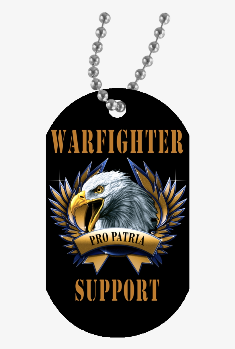 Black / One Size Warfighter Support Eagle Dog Tag - Girl Has No President Necklace, transparent png #509078