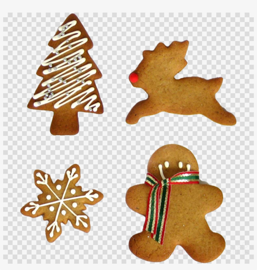 Christmas Cookies Png Clipart Biscuits Chocolate Chip - Christmas Cookie Clipart Png, transparent png #5005006