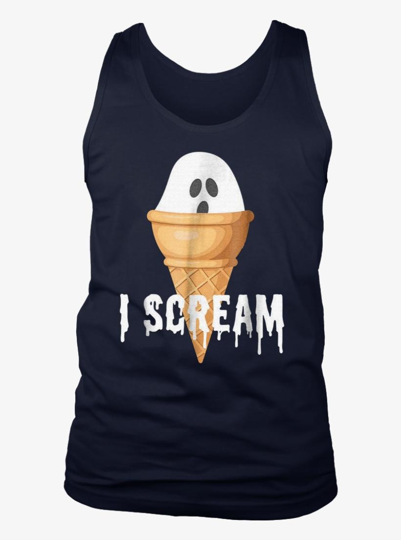 Ice Cream Halloween Costume Funny I Scream Ghost Pun - Shirt, transparent png #5033038