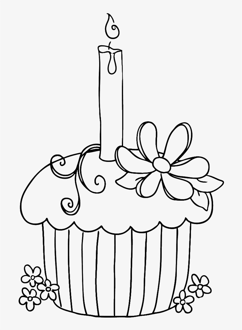Happy Birthday Coloring Pages Happy Birthday Cake Drawing Free