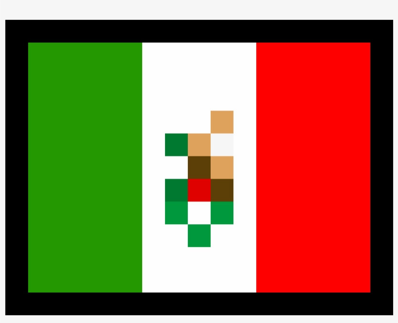Mexican Flag Png Vector Library Download - Mexican Flag Pixel Art, transparent png #5040663