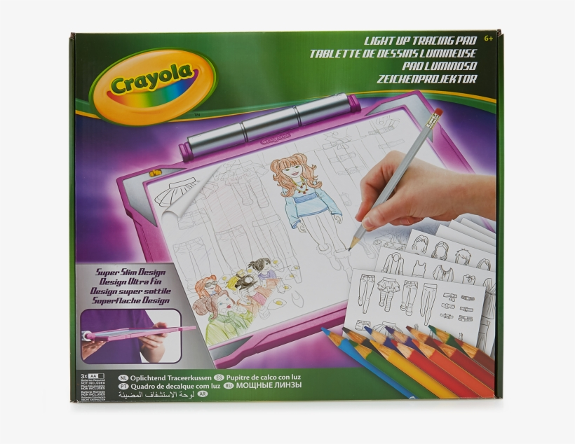 Pink Light Up Tracing Pad - Crayola Light Up Tracing Pad Assortment, transparent png #5049024