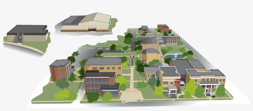 Campus Map - Waldorf University Forest City Iowa Campus, transparent png #5049400
