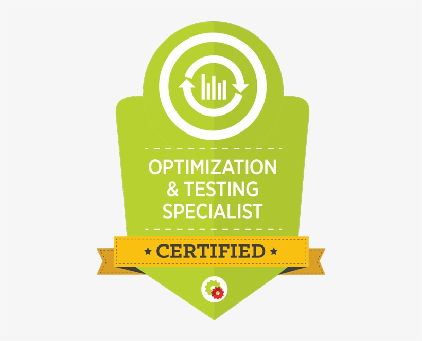 Optimization And Testing Badge - Online Marketing Specialist Badge, transparent png #5050621