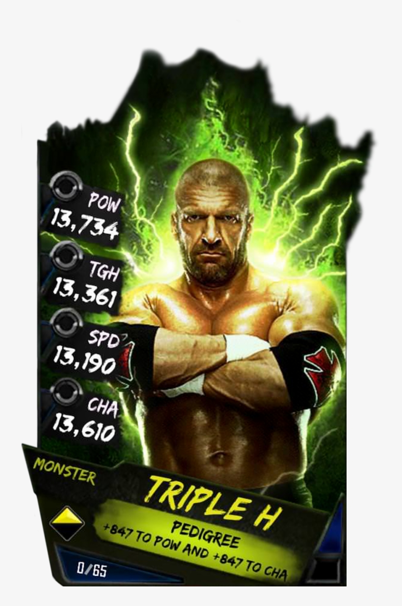 Supercard Tripleh Wrestlemania Fusion 8448 Supercard - Wwe Supercard Monster Cards, transparent png #5050920