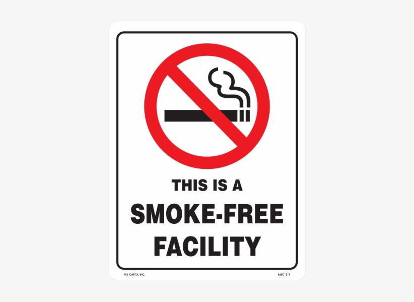 No Smoking Warning Vinyl Decal - No Smoking Sign - Free