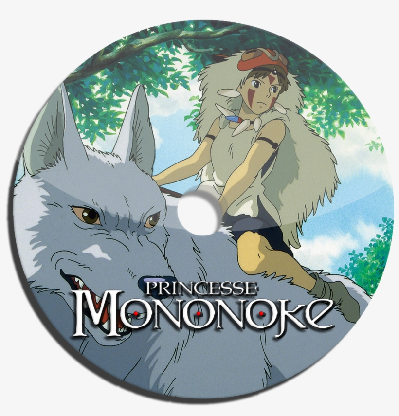 Princess Mononoke - Princess Mononoke San And Wolf, transparent png #5056536