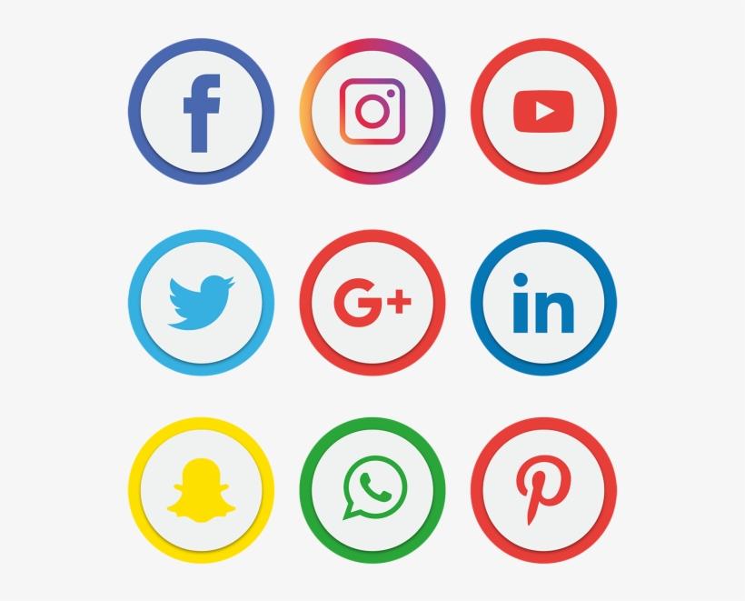 Social Media Icons Set - Facebook Instagram Whatsapp Png, transparent png #5057164