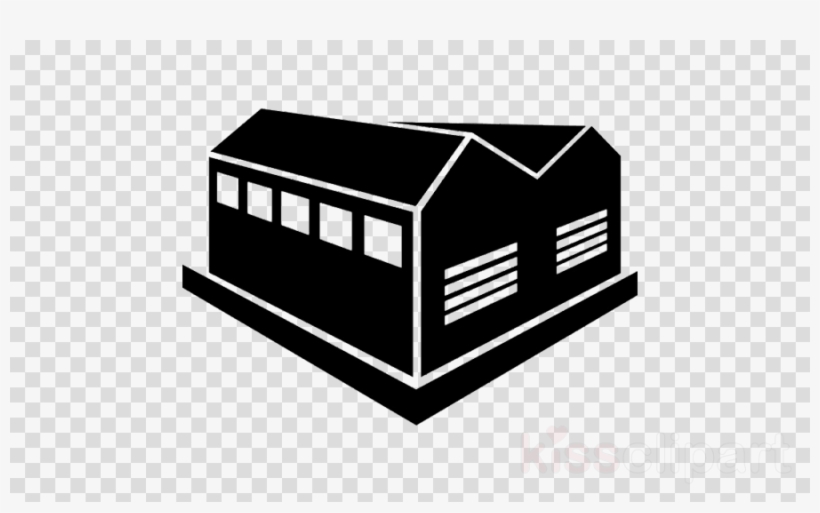 Industrial Building Icon Clipart Building Industry - Industrial Shed Png, transparent png #5064531