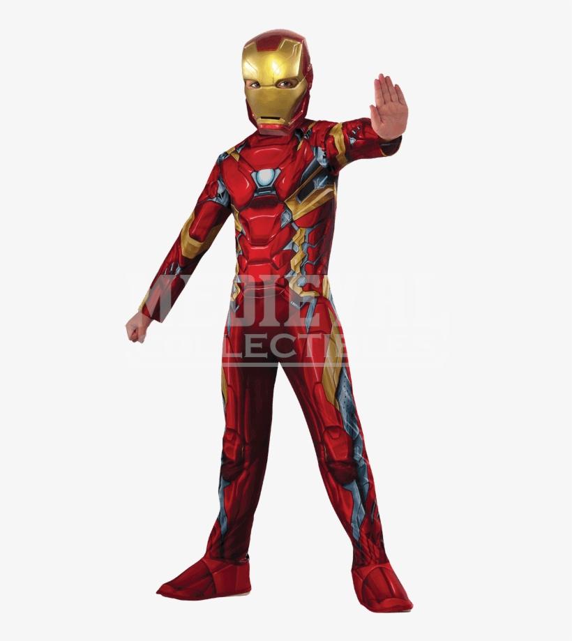 Kids Marvel Civil War Iron Man Costume - Iron Man Costume For Kids, transparent png #5068964