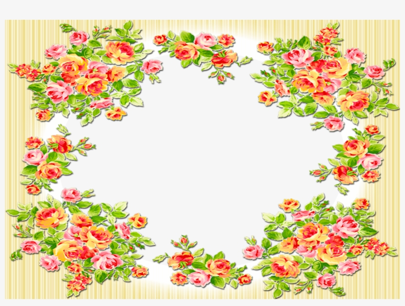 Para Salvar As Molduras, Clique Com O Boto Direito, - Molduras Florais Em Png, transparent png #5076211