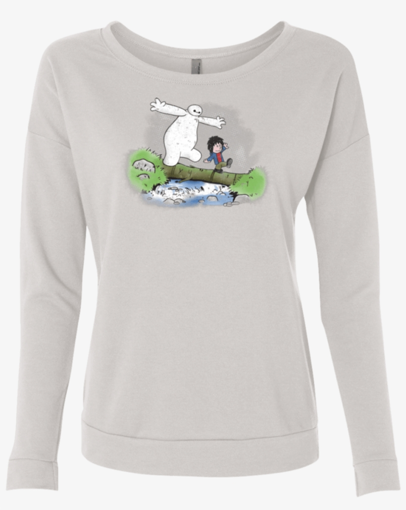 Baymax And Hiro French Terry Scoop - Long-sleeved T-shirt, transparent png #5091888