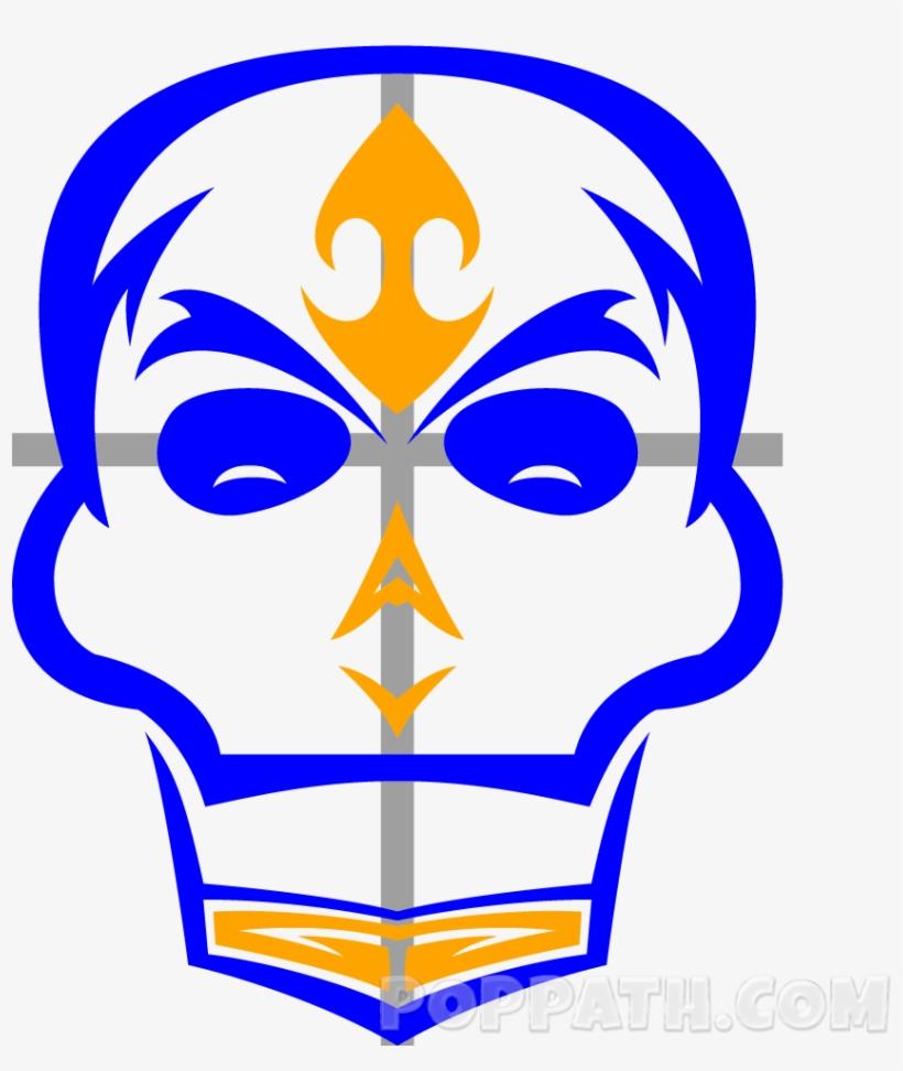 How To Draw A Skull Tribal Tattoo Pop Path - Tattoo, transparent png #510370