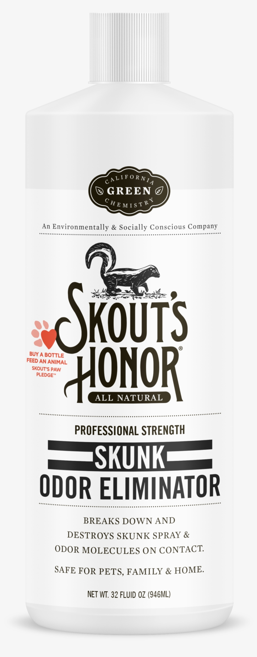 Skouts Honor Stain & Odor Remover (32 Fl Oz), transparent png #511332