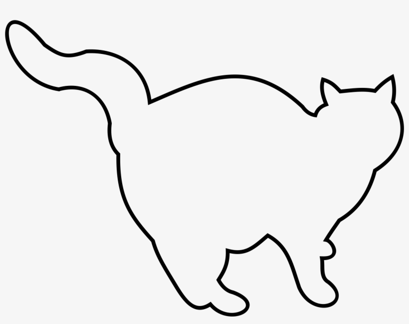 Fat Cat Jpg Transparent Library Outline Of A Fat Cat Free Transparent Png Download Pngkey