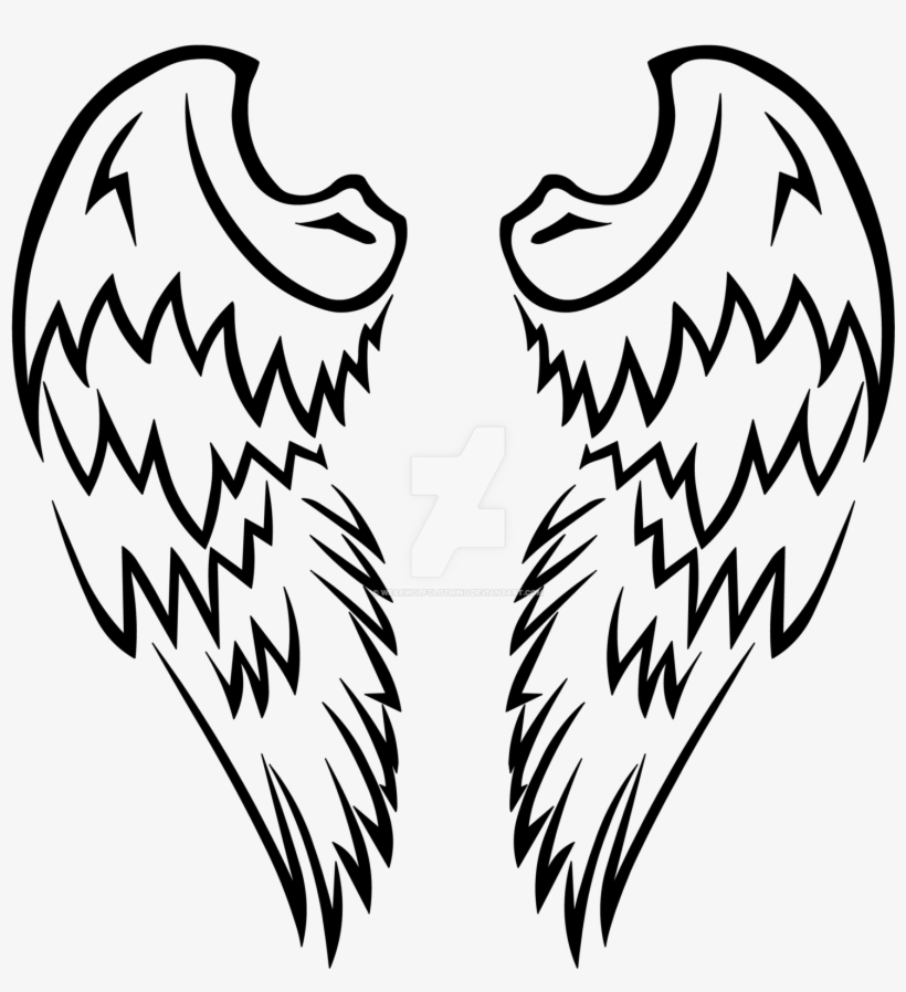 Angel Wings Tattoo Drawing At Getdrawings Tattoos Png Of S Free Transparent Png Download Pngkey