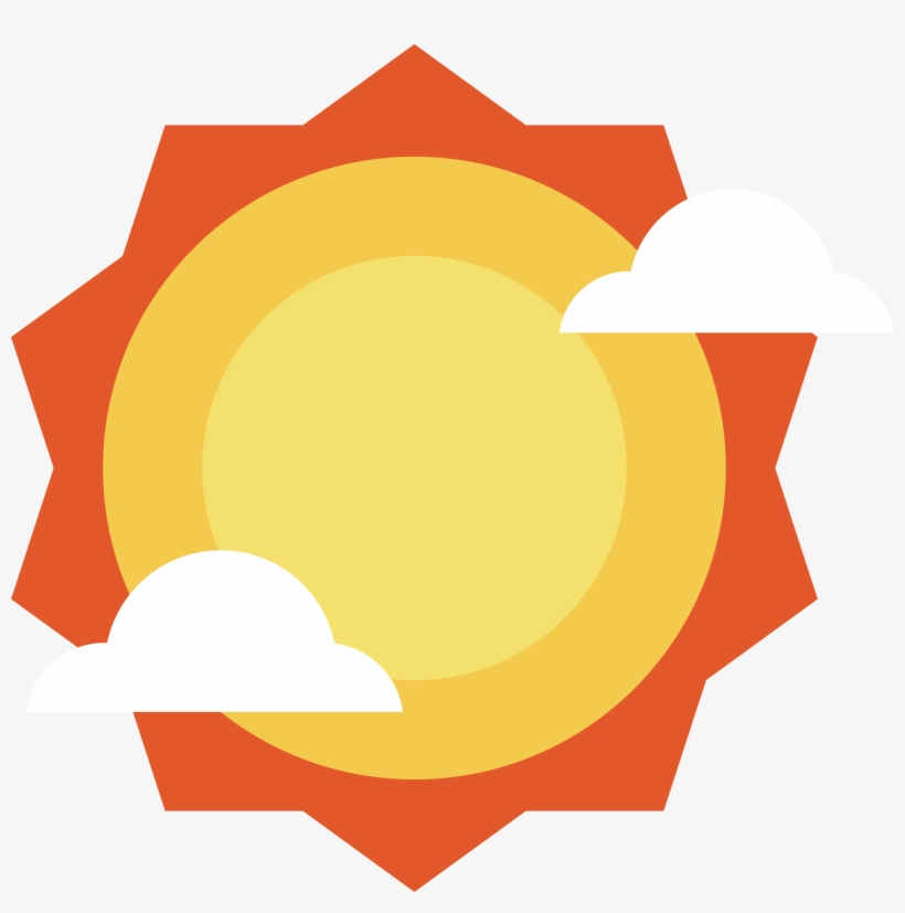 Clip Art Orange Sun Vector Transprent Png Sol Vector Png Free