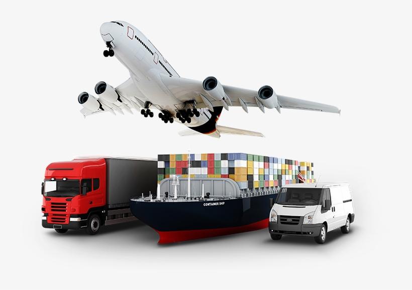Logistics & Cargo Carriage - Airplane Ship Train Truck, transparent png #513882