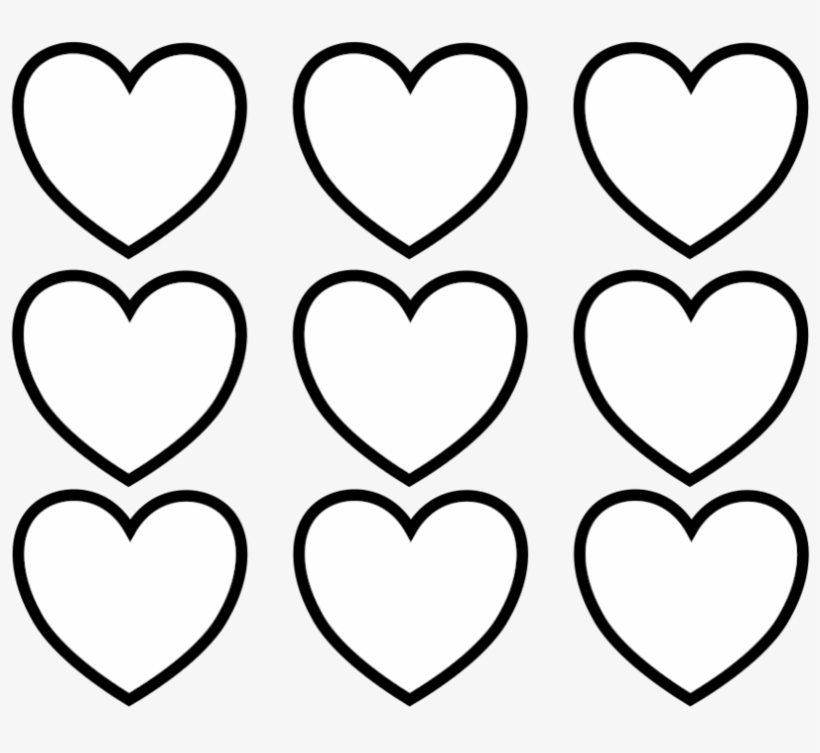 Kids Clipart Heart Coloring - Valentines Day Hearts Coloring Pages, transparent png #515301