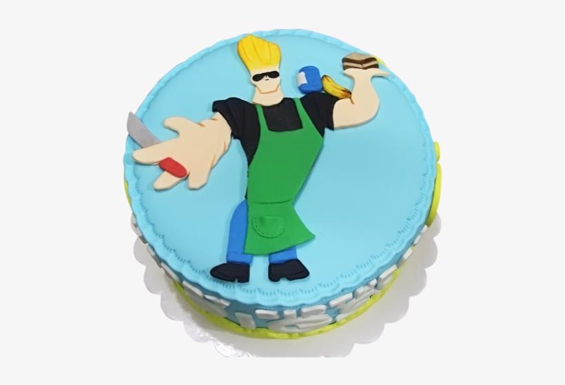 Johnny Bravo Cake - Johnny Bravo Birthday Cake, transparent png #516275