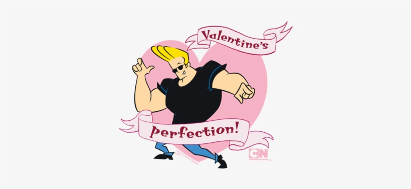 Johnny Bravo Valentines Perfection Juniors Premium - Funny Johnny Bravo, transparent png #516833