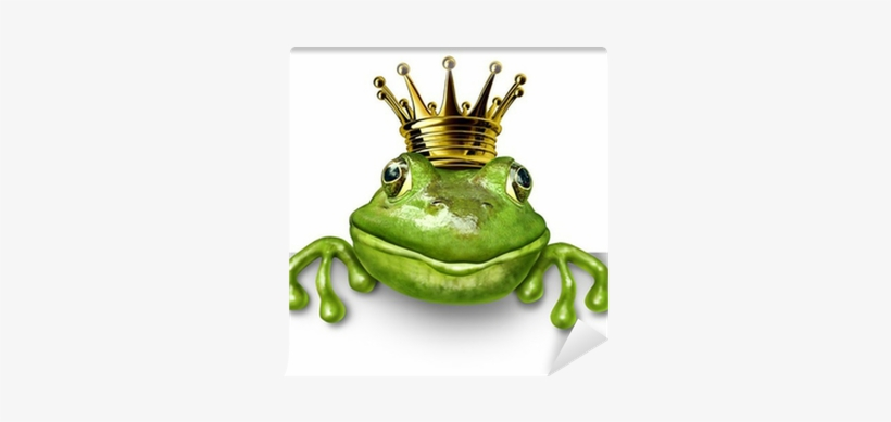 Frog Prince With Small Gold Crown Wall Mural • Pixers® - Ugly: Why Do I Attract And Fall, transparent png #517156