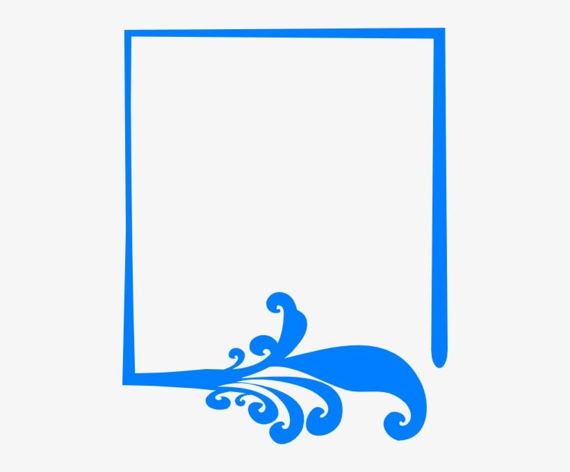 16f69484adce Blue Artistic Frame Clip Art - Blue Frame Vector Png - Free ...