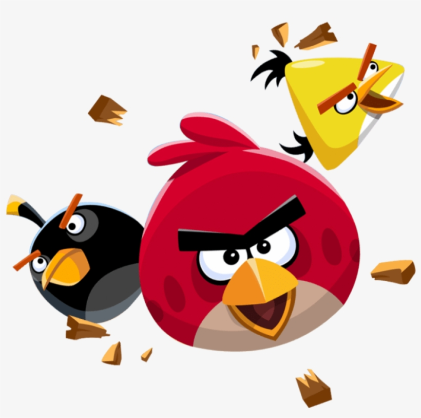 Angry Birds Flying Transparent Png - Angry Birds Png Transparent