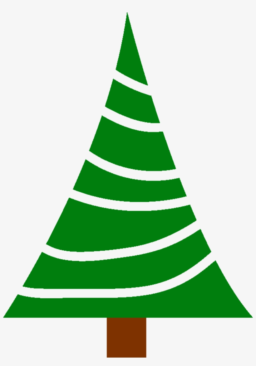 Jpg Royalty Free Library Big Image Png - Simple Christmas Tree Clipart, transparent png #518278