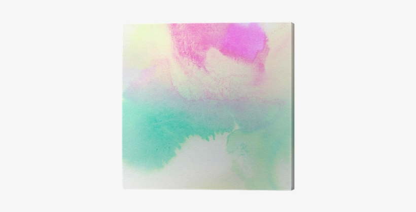 Abstract Colorful Watercolor Painted Background Canvas - Watercolor Painting, transparent png #519463