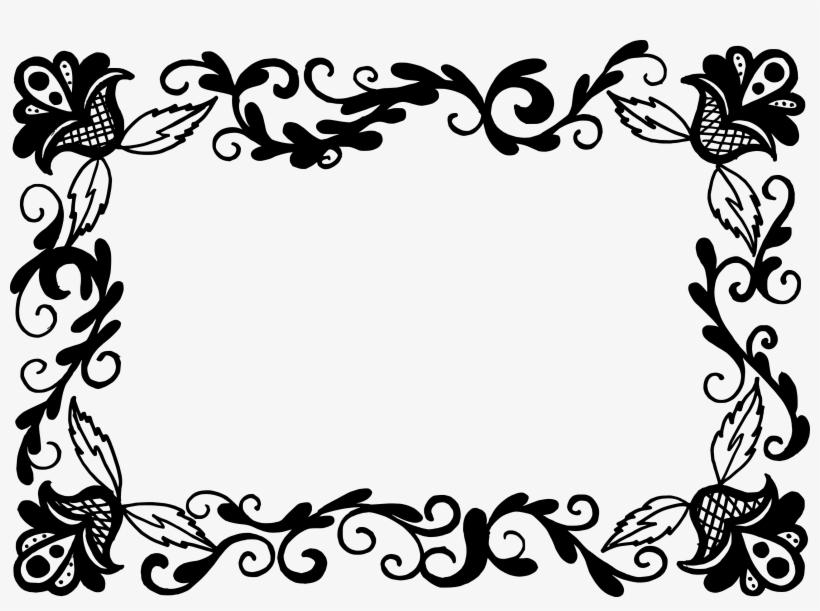 Free Download - Floral Border Design Vector Png, transparent png #519989
