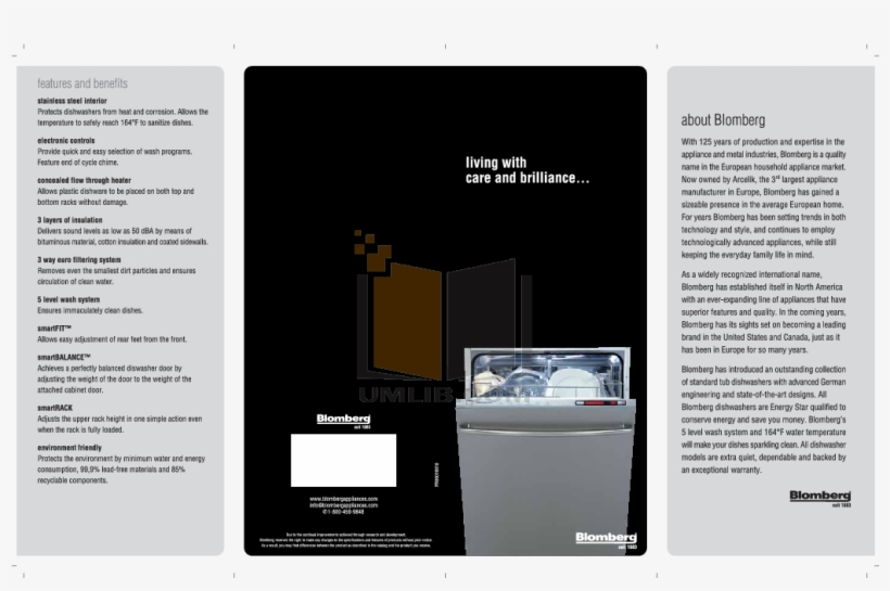 blomberg dishwasher manual