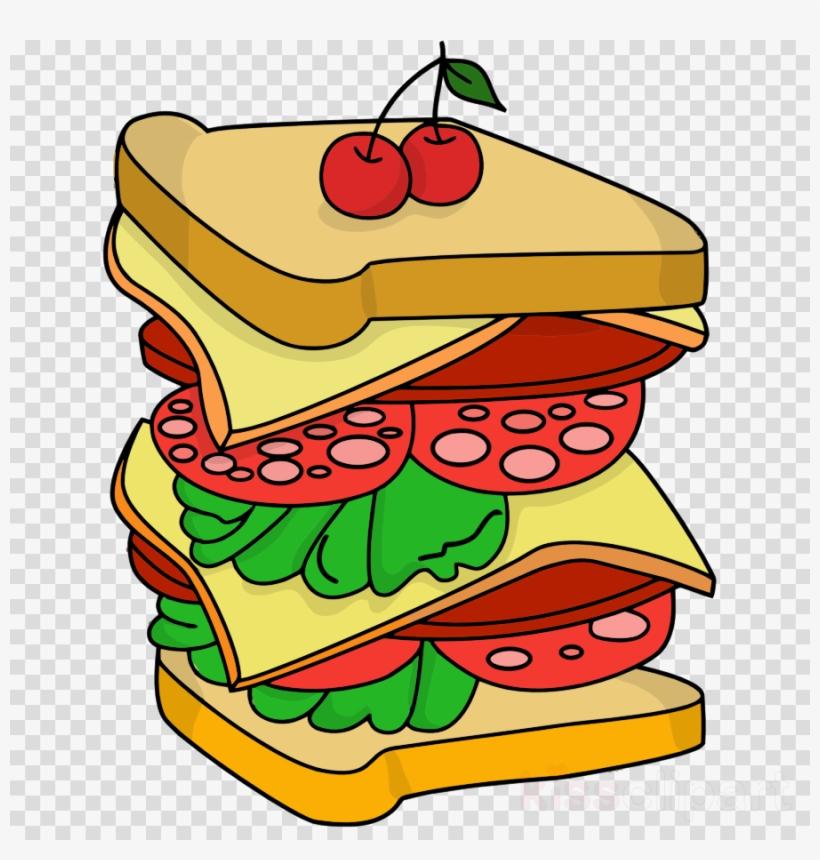 Hamburger Clipart Hamburger Eating Food - Sandwich Drawing, transparent png #5106673