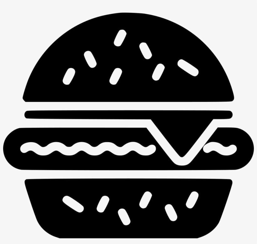 Hamburger Comments Hamburguesa Png Blanco Y Negro Free