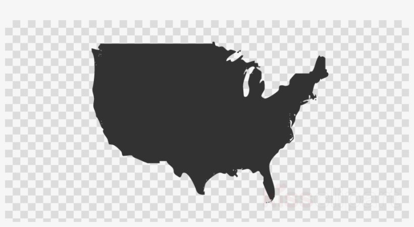 Usa Canada Map Png Clipart United States Of America Green Bay - Us-map-logo