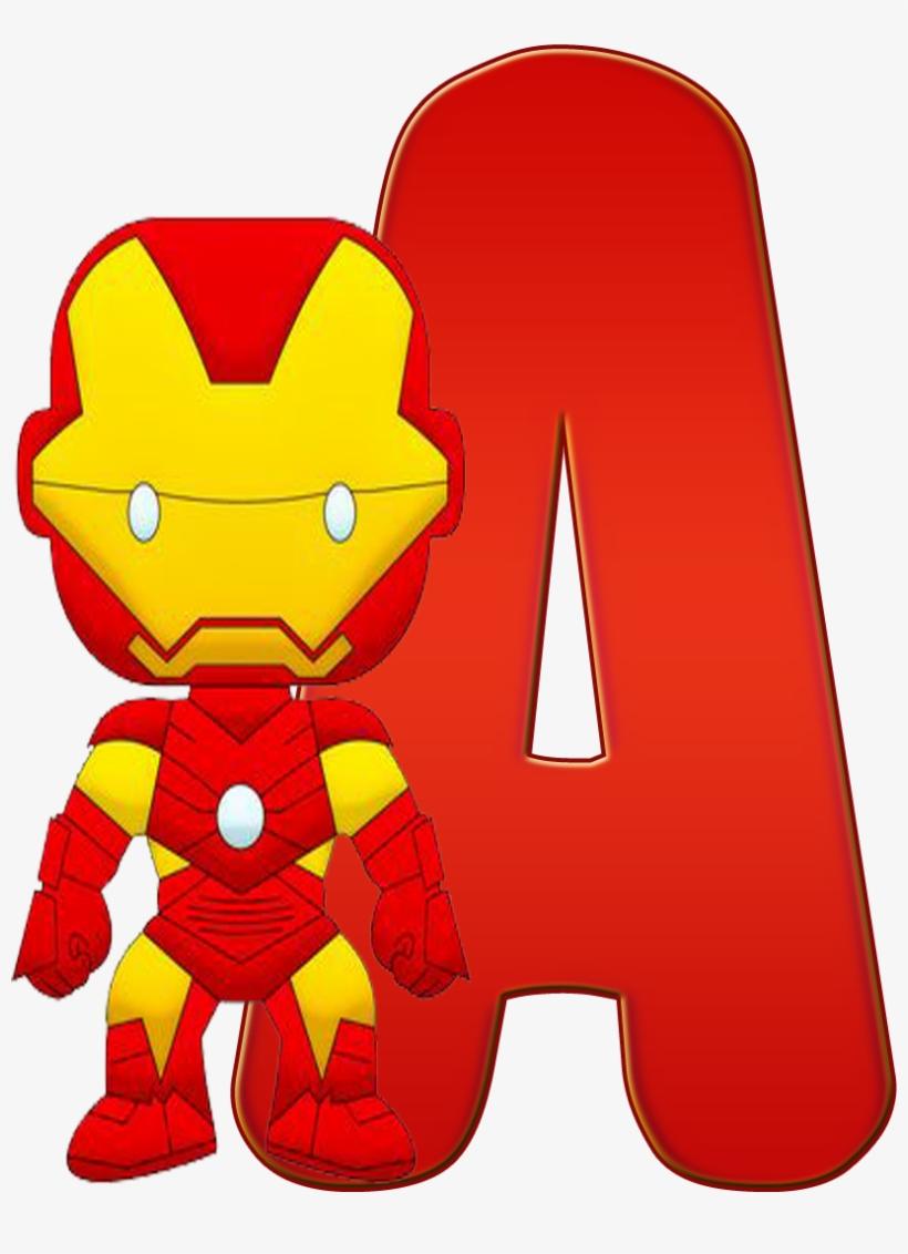 Homem De Ferro Png Cute Letras De Super Heroes Free Transparent