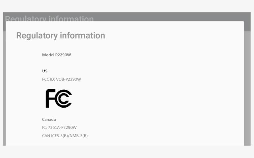 Fcc Id Vob P2290w Id Label Location Info - Us Fcc Id, transparent png #5129991