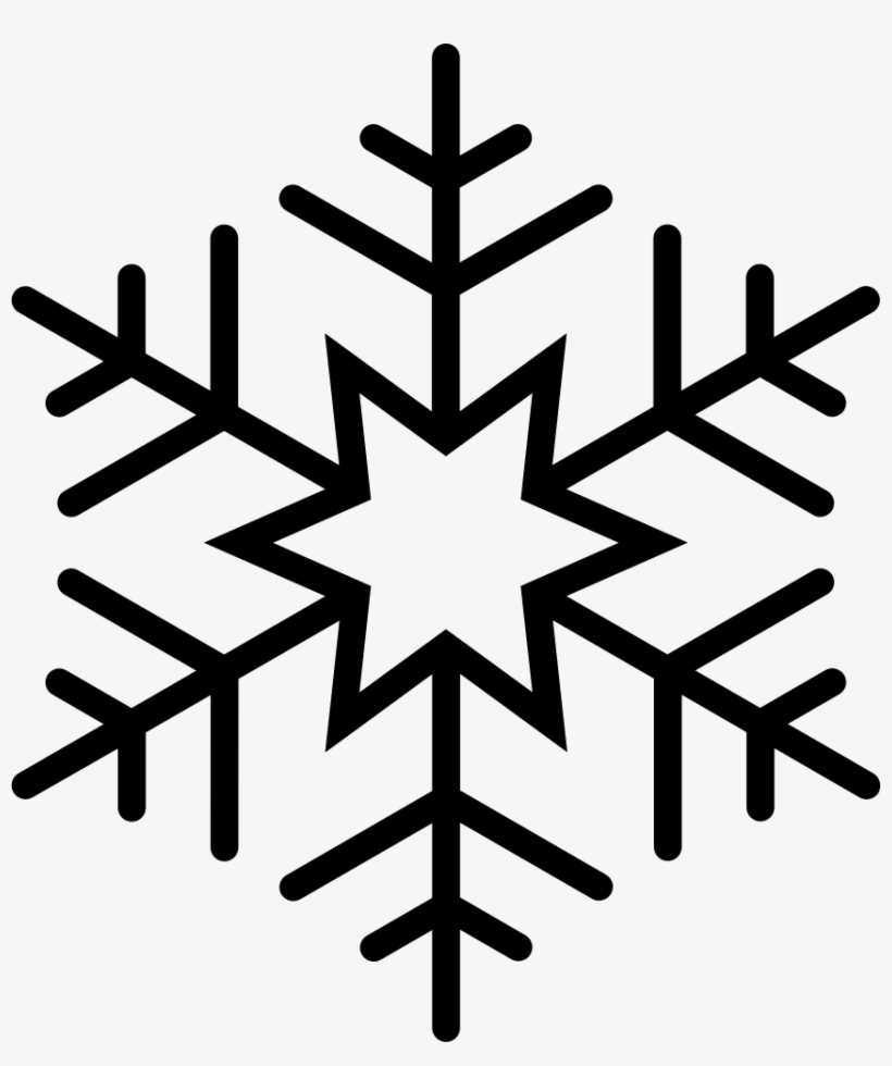 Png File - Outline Of Snowflake, transparent png #5130220