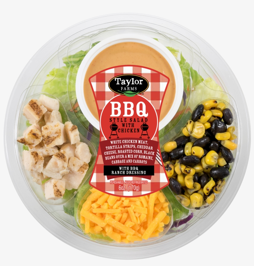 Taylor Farms Bbq Salad With Chicken Round Toss Up,, transparent png #5132000