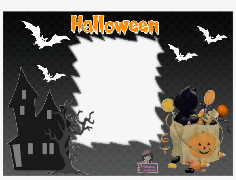5 Molduras Em Png Para Facilitar O Encaixe Das Fotos, - Convite Halloween Para Editar, transparent png #5132332