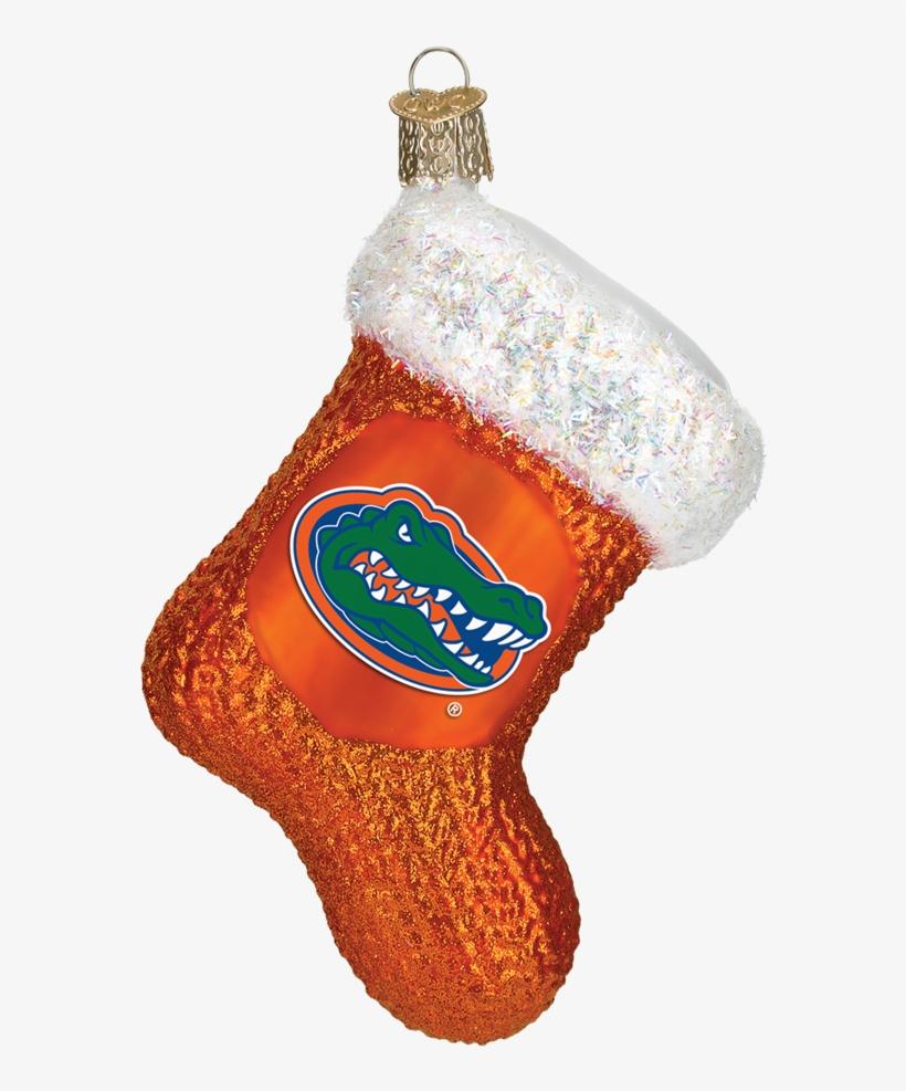 Florida Gators Stocking Glass Christmas Ornament - Cincinnati Bengals Stocking Ornament, transparent png #5136323