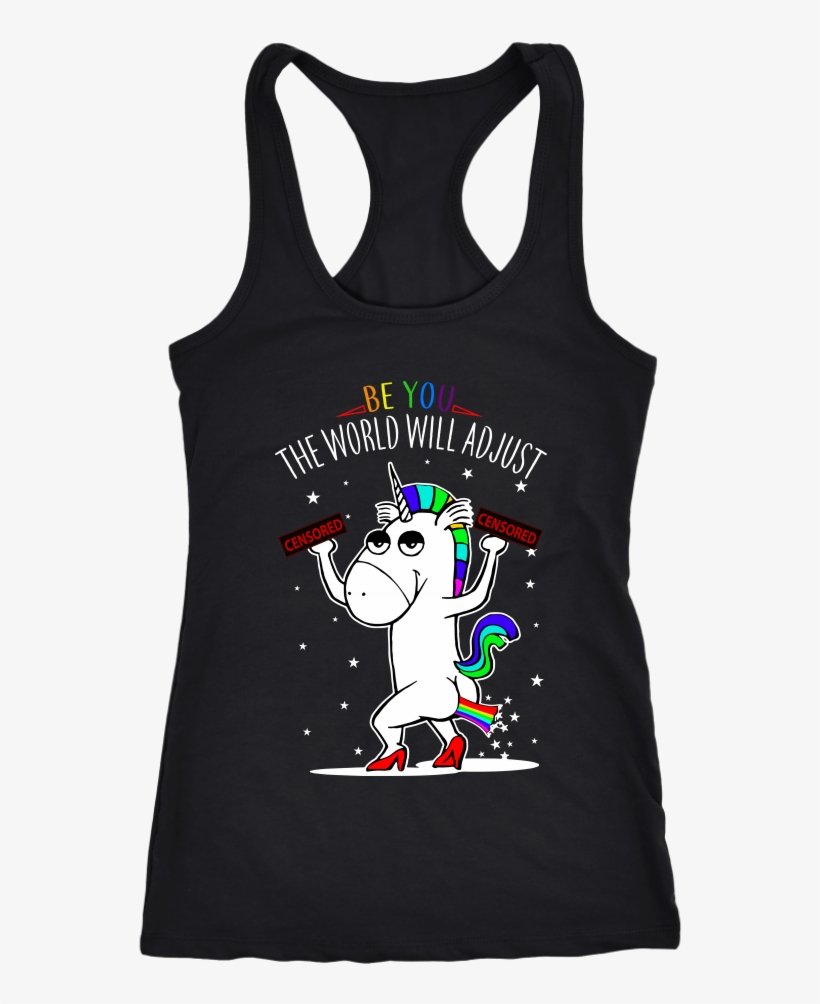 Be You The World Will Adjust Gay Pride - Dog Lover And Runner Tank Top - Can't Jog Without Dog, transparent png #5138968