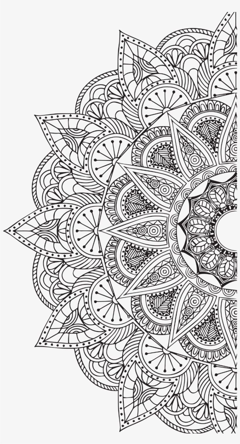 Mandala White Png Vector Black And White - Holistic Islam: Sufism, Transformation, And The Needs, transparent png #5140079