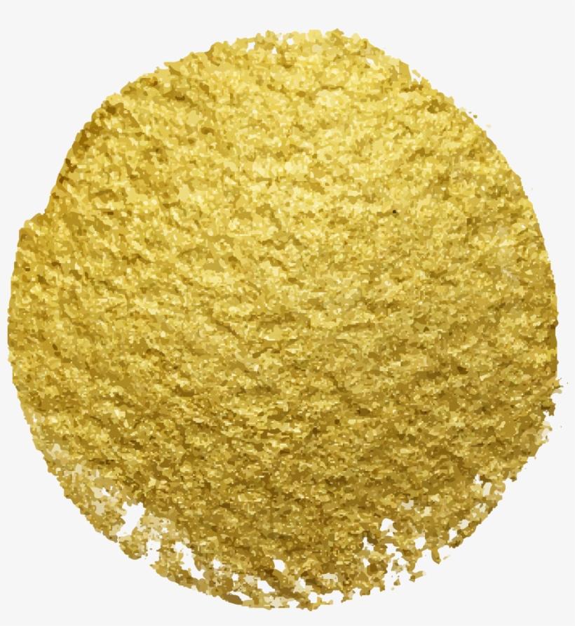 Gold Glitter Spots Png, transparent png #5141976