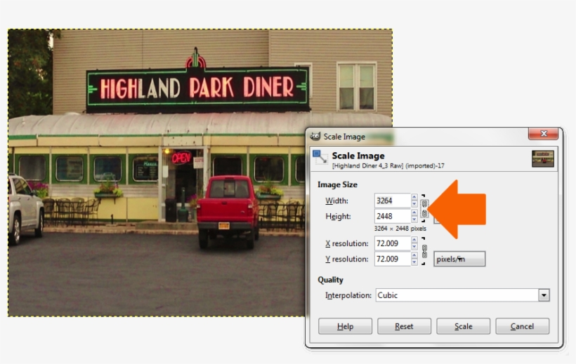 In The Image Menu, Open The Scale Image Dialog Box - Pickup Truck, transparent png #5145349