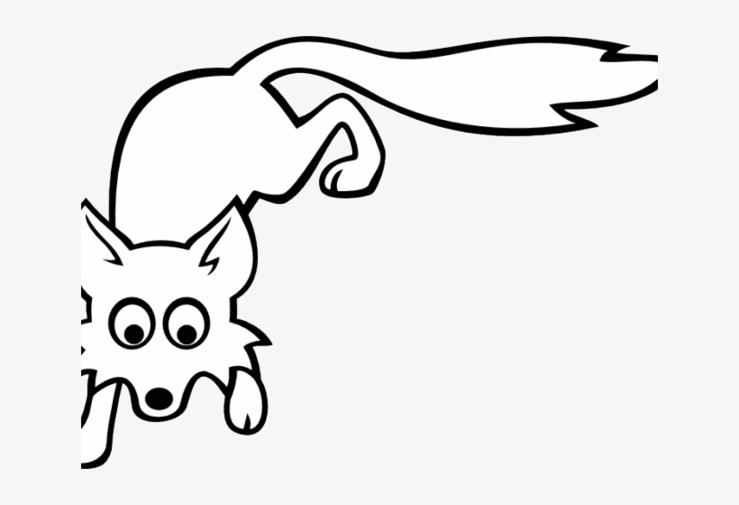 Arctic Fox Clipart - Fox Clip Art Black And White, transparent png #5145553